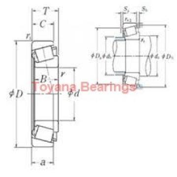 Toyana 23940 KCW33+H3940 spherical roller bearings
